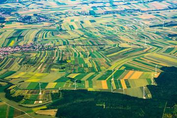 Aerial view of Italian Alps