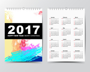 8Calendar Template for 2017 year.