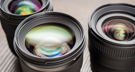 Interchangeable camera lenses