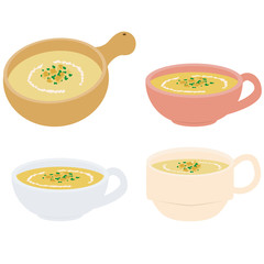 カップスープ ポタージュスープ 4種の器