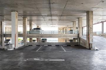 Parking indoor old building