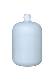 Water tank bottle white simple on white background,isolated