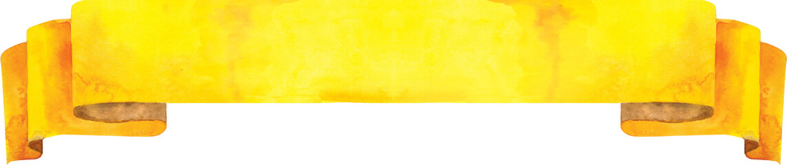 Watercolor yellow banner