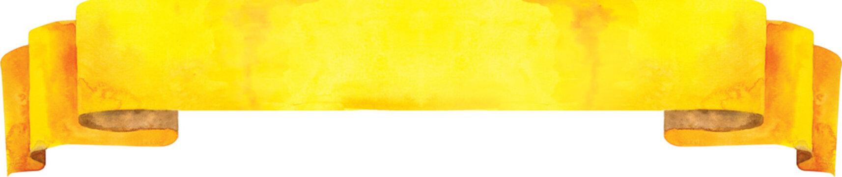 Watercolor yellow banner