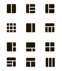 Collection set of Gallery view Display options icon vector