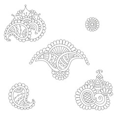 Indian paisley set