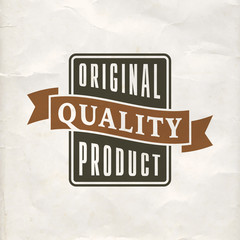 Premium quality label template design