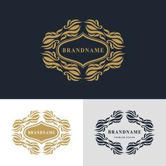 Monogram design elements, graceful template. Calligraphic elegant line art logo design. Frame emblem sign for Royalty, business card, Boutique, Hotel, Heraldic, Wine, Jewelry. Vector illustration