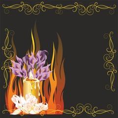 dekoracja ze świecą