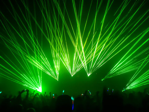 Party. Laser rays.