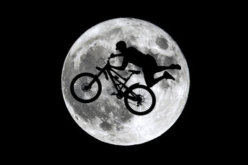 Full moon free rider jumping