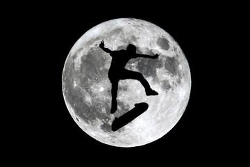 Full moon skater skating