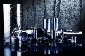 Composition with silver tubes