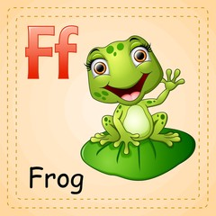 Animals alphabet: F is for Frog