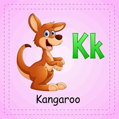 Animals alphabet: K is for Kangaroo