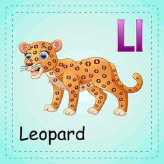 Animals alphabet: L is for Leopard
