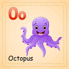 Animals alphabet: O is for Octopus