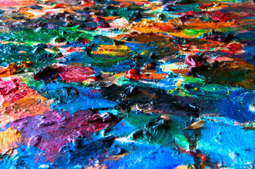 Painting palette as background