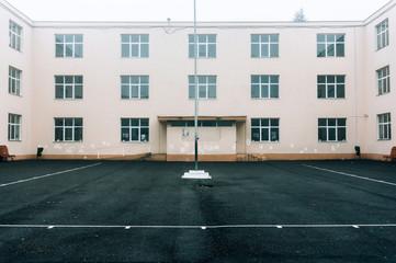 Empty schoolyard