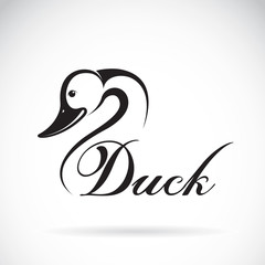 Vector of a duck design on a white background.
