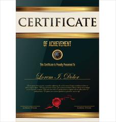 Elegant certificate or diploma template