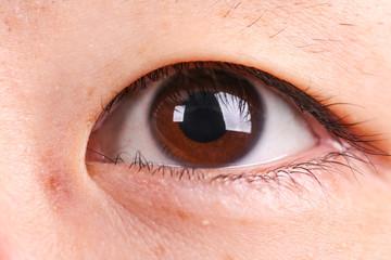 Eye of a Asian man
