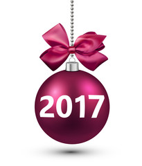 2017 New Year 3d card.