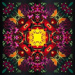 Colorful ethnic patterned background abstract decorative element