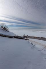 winter snow sea coast Baltic Sea Latvia Saulkrasti