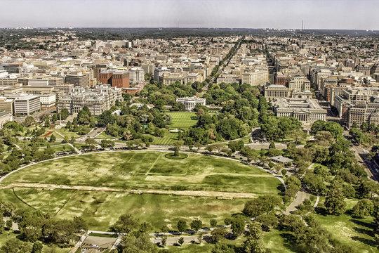 View on Washington with White House