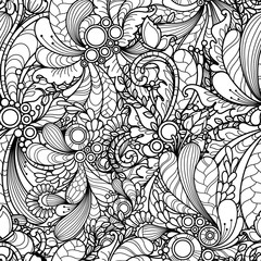 Seamless pattern in doodle style