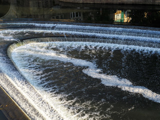 View of Pulteney Weir in Bath