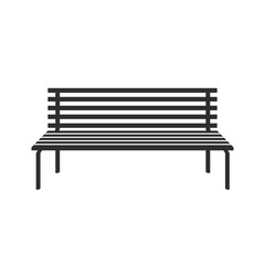 Bench icon isolated on white background. Park vector icon bench in flat style