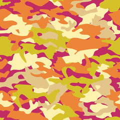 Seamless vector camouflage pattern. Print. Repeating background. Cloth design, wallpaper.