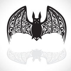 bat tattoo graphic