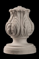 gypsum pommel column, capitellium