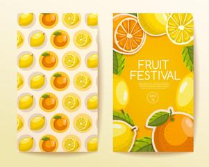 Fruit Festival : Fruit Elements : Vector Illustration