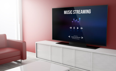 Television smart music streaming