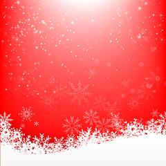 Christmas snowflake and starlight abstract bakcground vector ill