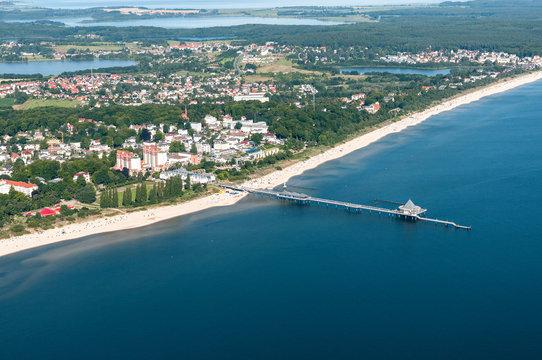 Luftaufnahme von Heringsdorf auf der Insel Usedom