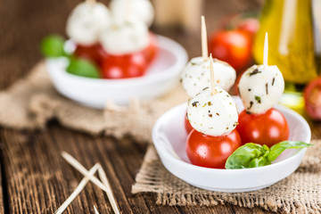 Portion of Mozzarella with Tomatoes