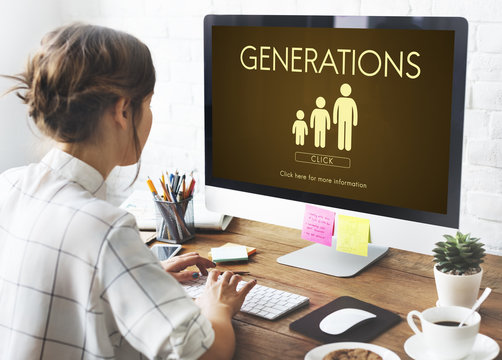 Generations Family Togetherness Relationship Concept