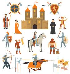 Medieval Decorative Icons Set