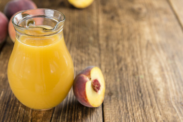 Fresh made Peach juice