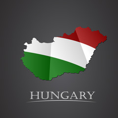 Map of hungary. vector illustration