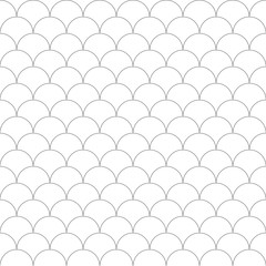 Seamless Pattern Moroccan, fish scale tile