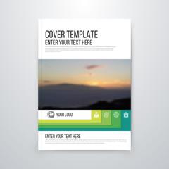 brochure design template vector flyer
