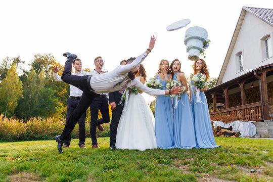 Loser drops the wedding cake