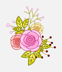 Decorative Flowers Vectors