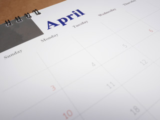 April on calendar page 2